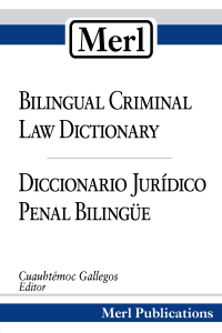 Bilingual Criminal Law Dictionary Cover